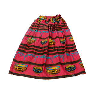 African Dutch Ankara Wax Print Full Circle Skirt for Girls and Women African Printed Womens Casual Maxi Skirt Flared Pleated Floral Maxi Dashiki Skirts Multi Plus Size A Line High Waist Ball Gown (S-XL) - Laura Baby and Company