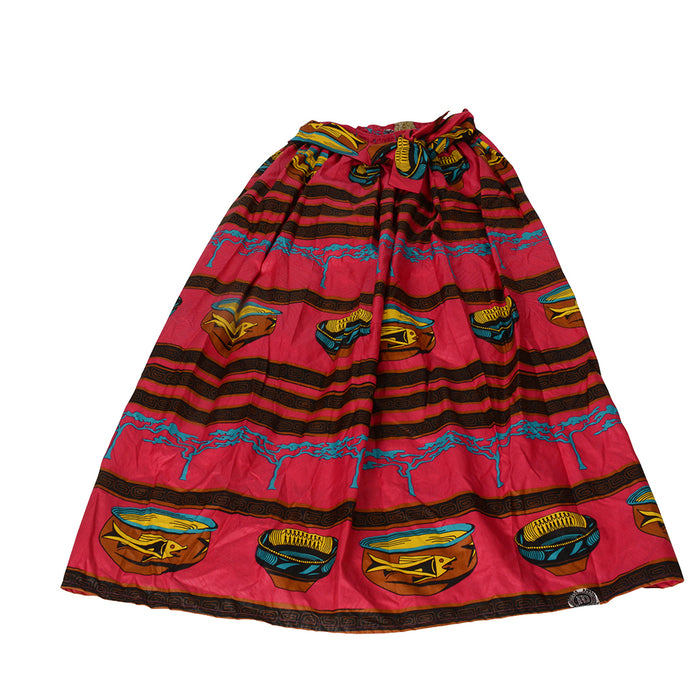 Novarena African Dutch Ankara Wax Print Full Circle Skirt for Girls and Women African Printed Womens Casual Maxi Skirt Flared Pleated Floral Maxi Dashiki Skirts Multi Plus Size A Line High Waist Ball Gown (S-XL) - Laura Baby and Company