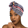 PRE-TIED Women African Turban with Rose Flower Knot | Pre-Tied Bonnet Beanie Cap Headwrap| Stretch Jersey Solid Colors and Floral Knit Wraps Scarf - Laura Baby and Company