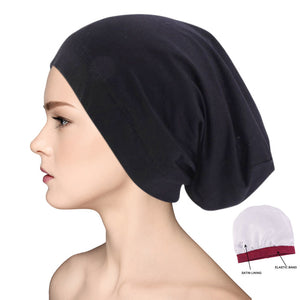 Satin Silk Lined Sleep Cap Beanie Slap Hat – Gifts for Women