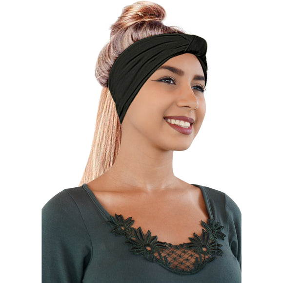 Novarena Original Multi Style Headband. For Women Yoga Fashion Workout Running Athletic Travel. Wear Wide Turban Knotted + More - Laura Baby and Company