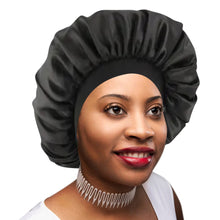 Satin Lined Sleep Cap Silk Feel Sleeping Bonnet Hair Wrap for Women Frizzy Natural Curly Hair Head Cover Night Slap Caps