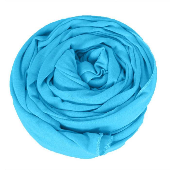 Novarena Teal Blue Solid Color Head Wrap Stretch Long Hair Scarf Turban Tie Kente African Hat Jersey Knit Headwrap - Laura Baby and Company