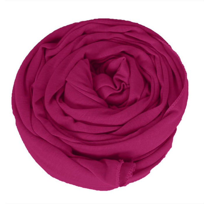 🎁 ONE DAY SALE Novarena Fuchsia Solid Color Head Wrap Stretch Long Hair Scarf Turban Tie Kente African Hat Jersey Knit Headwrap - Laura Baby and Company