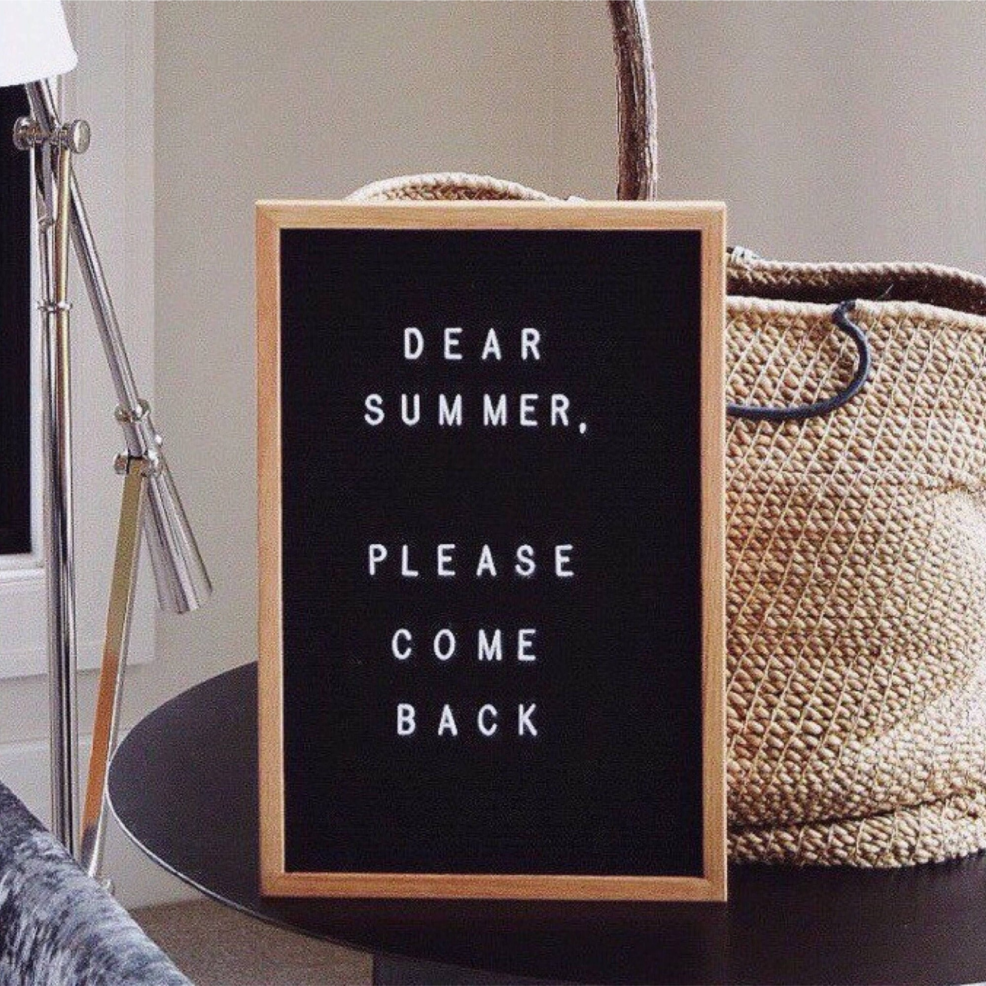 12x18 Felt Letter Board|Oak Frame Letterboards | Grey Black White Felt Letter Board with 340 White Letters | Felt Message Board | 12x18 Felt Sign - Laura Baby and Company