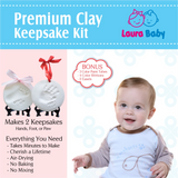 SALE Laura Baby and Pet Premium Ornament Keepsake Kit, Baby Handprint kit And Footprint Kit -Keepsake Clay Casting Kit - Laura Baby and Company
