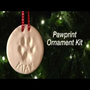 SALE Laura Baby and Pet Premium Ornament Keepsake Kit, Baby Handprint kit And Footprint Kit -2 Ornaments In Non-Toxic Clay, And Comes With 2 Easels, 4 Ribbons Plus Bonus Personalization kit. Best Baby Shower Gift - Laura Baby and Company