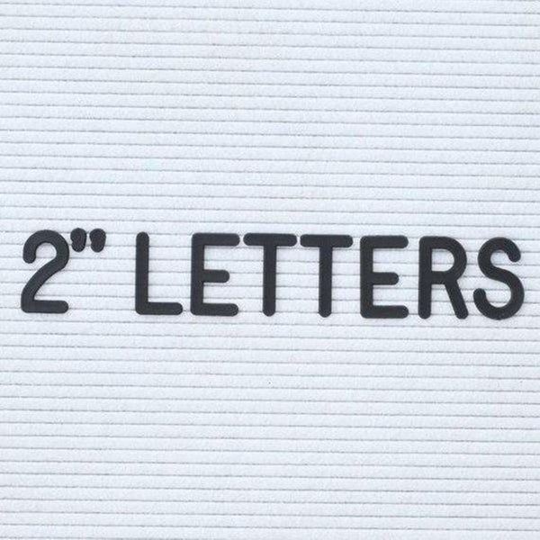 Black or White Felt Letter Board Letters - 3/4
