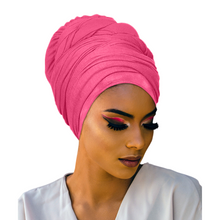 Novarena Soft Stretch African Headwraps Jersey Solid Color Floral Knit Wraps Scarf Turbans Ties Lightweight Breathable Wraps |18 Colors Extra Long 70""