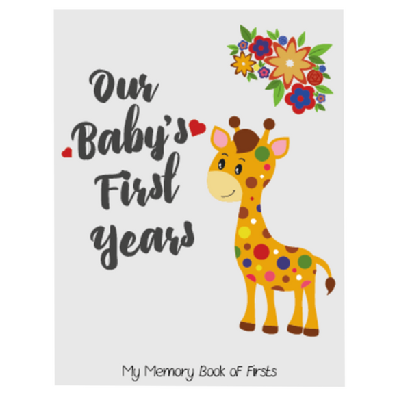 Novarena Little Jungle and Farm Animals Lover Baby Memory Book with 50 milestones stickers- First 5 Years