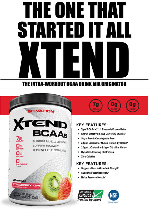 Scivation Xtend BCAA - 30 serviranja (BCAA sa glutaminom)