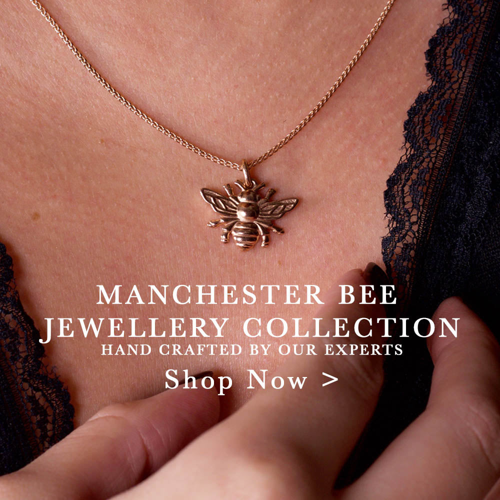 manchester bee jewellery made by nouveau jewellers in manchester