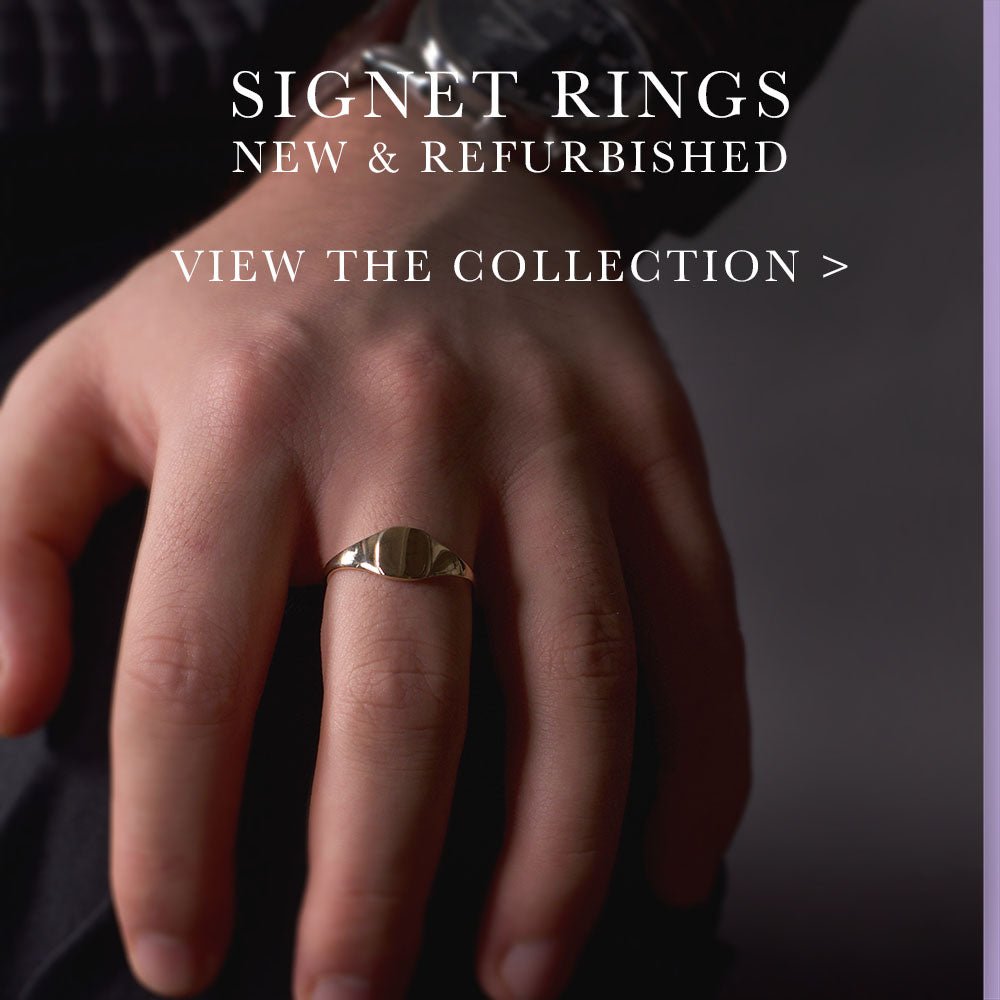 Signet rings, nouveau jewellers, jewellers in manchester, men's rings