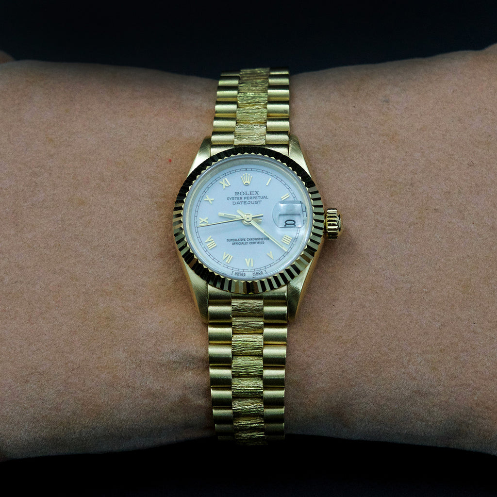 Nouveau Jewellers, 18ct gold rolex, Rolex Solid Gold Roman 1985, Refurbished Rolex