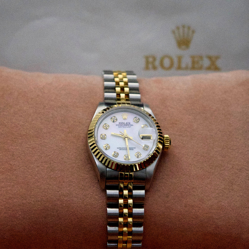 Nouveau Jewellers, 18ct gold rolex, Diamond Rolex, Ladies Vintage Rolex 1989, Refurbished Rolex