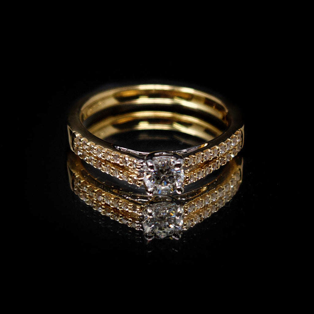 18ct White Gold Split Shank Diamond Engagement Ring, sold at Nouveau Jewellers in Manchester