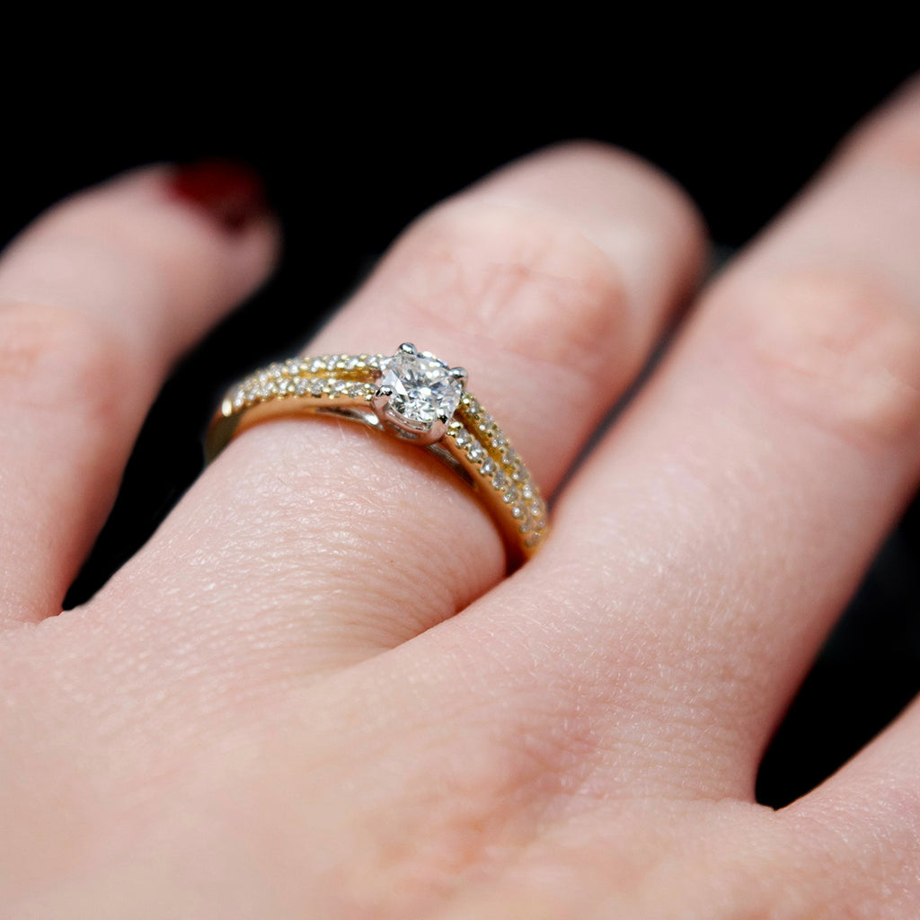 engagement ring, diamond ring, engagment ring, engagement jewellery, nouveau jewellers, nouveau, gold engagement ring, love, bridal, ring, diamonds, manchester jewellers