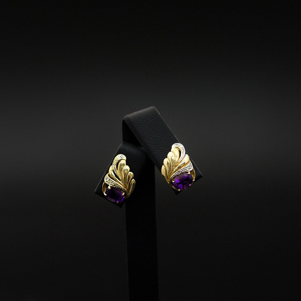 9ct Yellow Gold Vintage Style Stud Earrings, sold at Nouveau Jewellers in Manchester