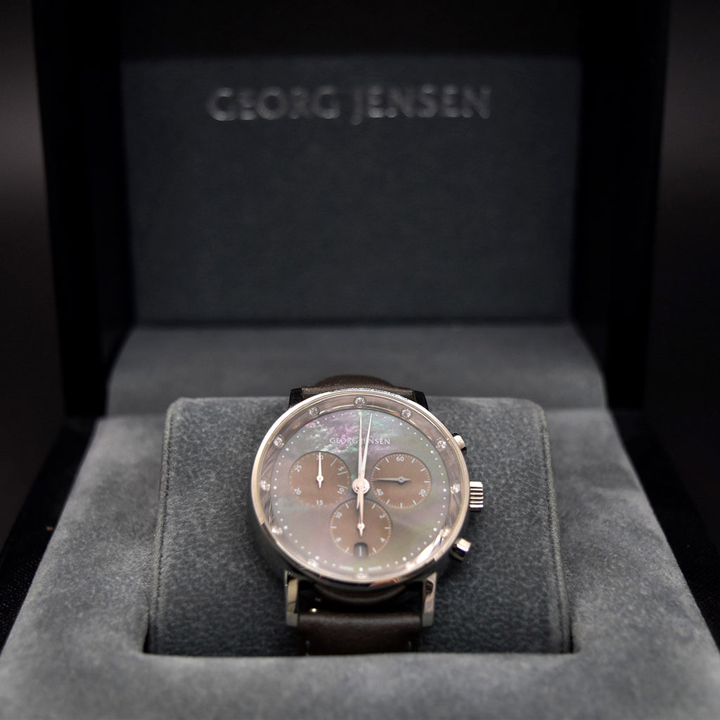 Georg Jensen Gent's watch, second hand watch, nouveau jewellers, luxury watches