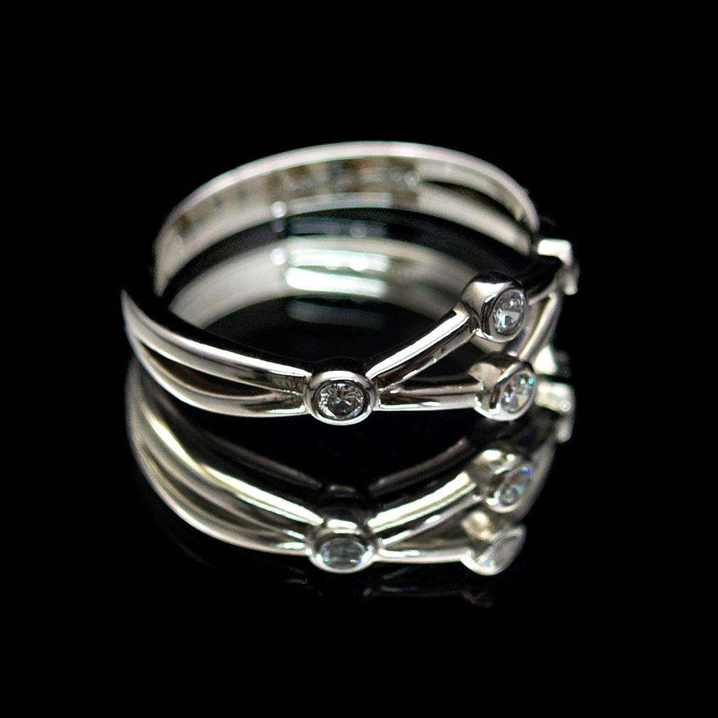 White Gold Diamond Ring, Nouveau Jewellers, Unique diamond ring, refurbished diamond ring, jewellers in Manchester