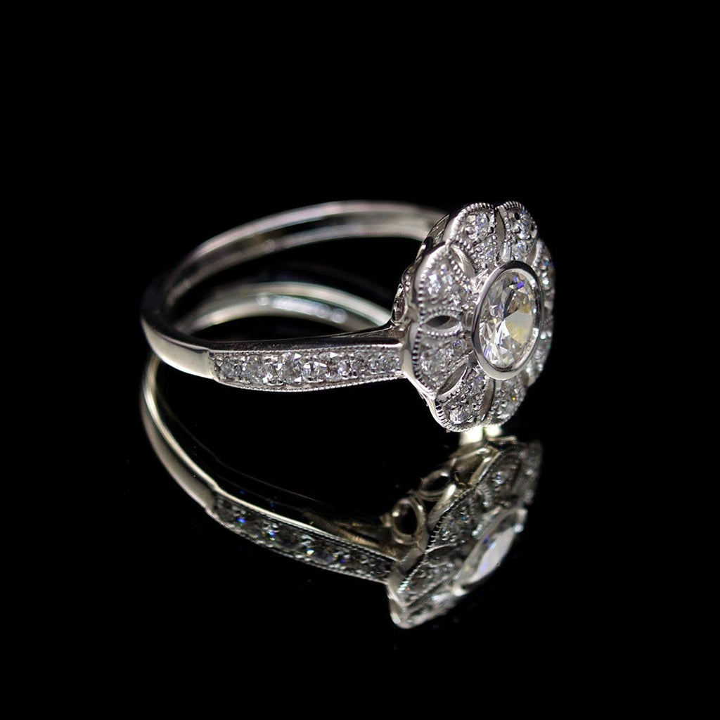 18ct White Gold Diamond Cluster Ring - Nouveau Jewellers