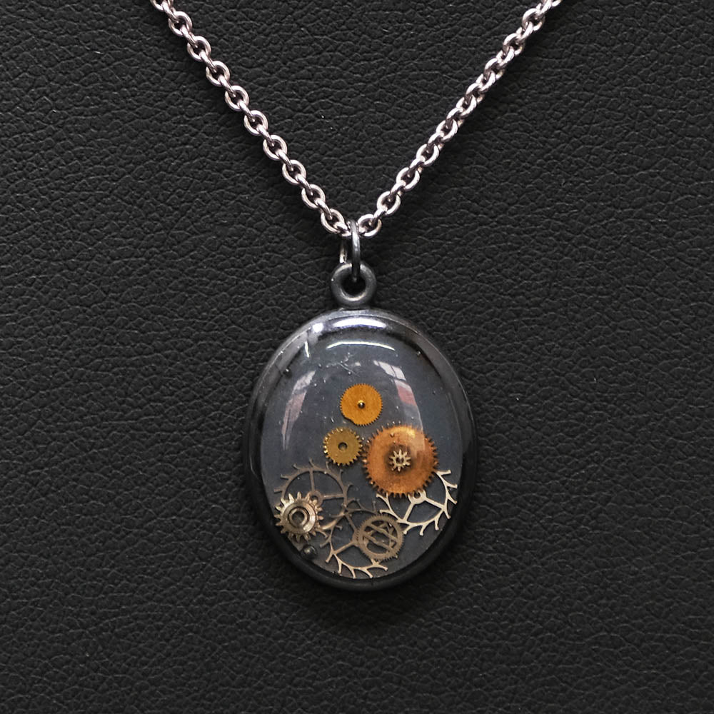 Nouveau Jewellers, Steampunk necklace, handmade steampunk jewellery, cognition collection