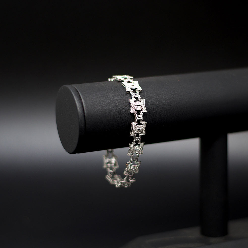 Nouveau Jewellers, Chanel Style Diamond Bracelet in 18ct White Gold Bracelet, Manchester Jewellers