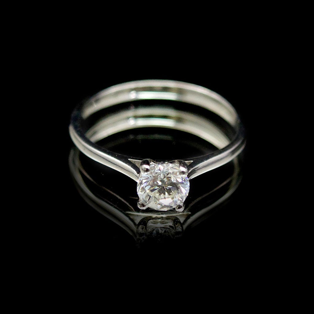Platinum Classic Solitaire Engagement Ring, sold at Nouveau Jewellers Manchester