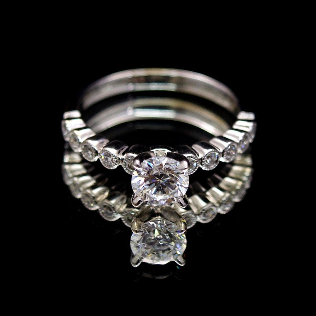 18ct White Gold Solitaire Diamond Engagement Ring, sold Nouveau Jewellers in Manchester