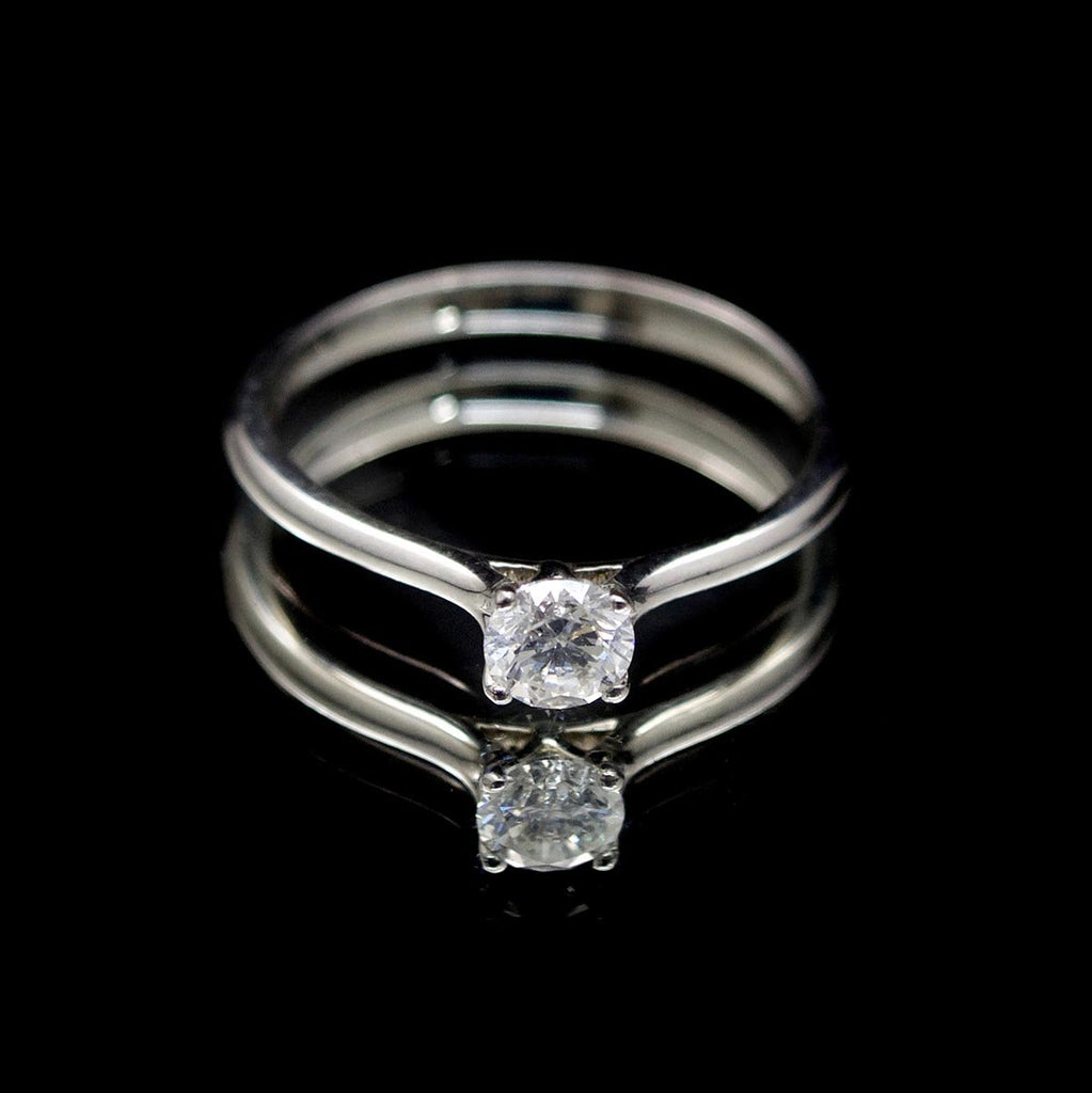 Timeless Platinum Diamond Engagement Ring, sold at Nouveau Jewellers in Manchester
