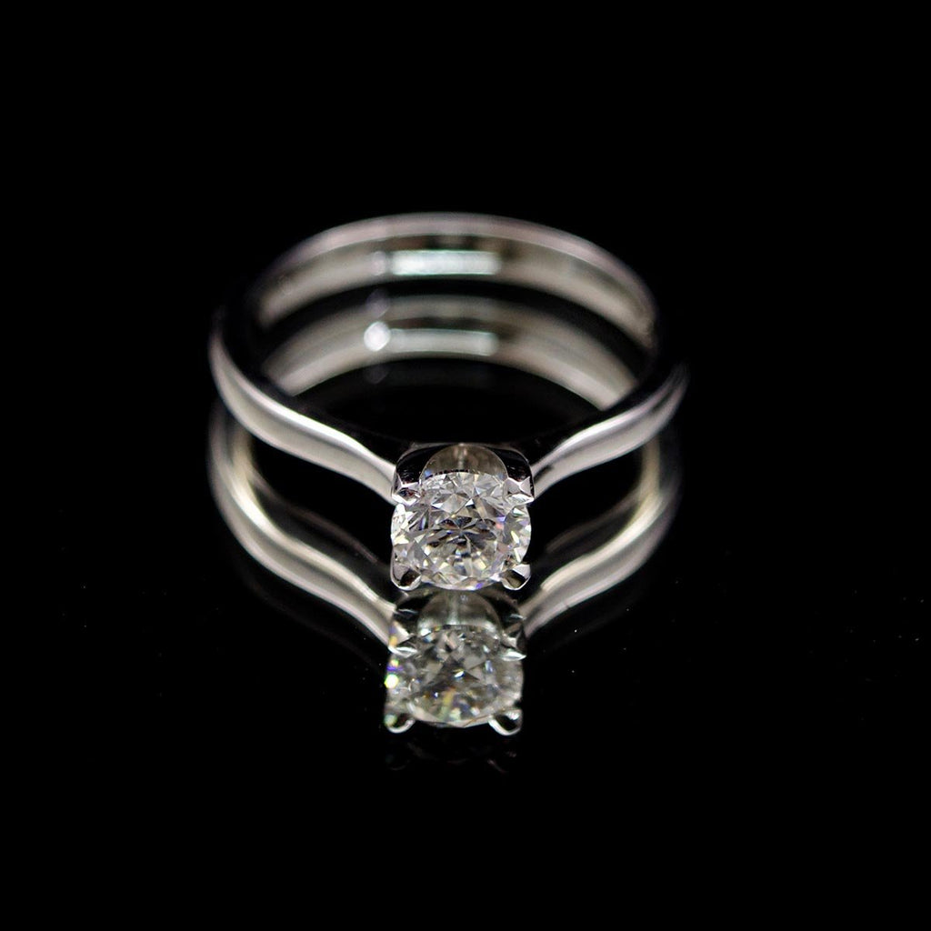 18ct Elegant Solitaire Diamond Engagement Ring, sold at Nouveau Jewellers in Manchester
