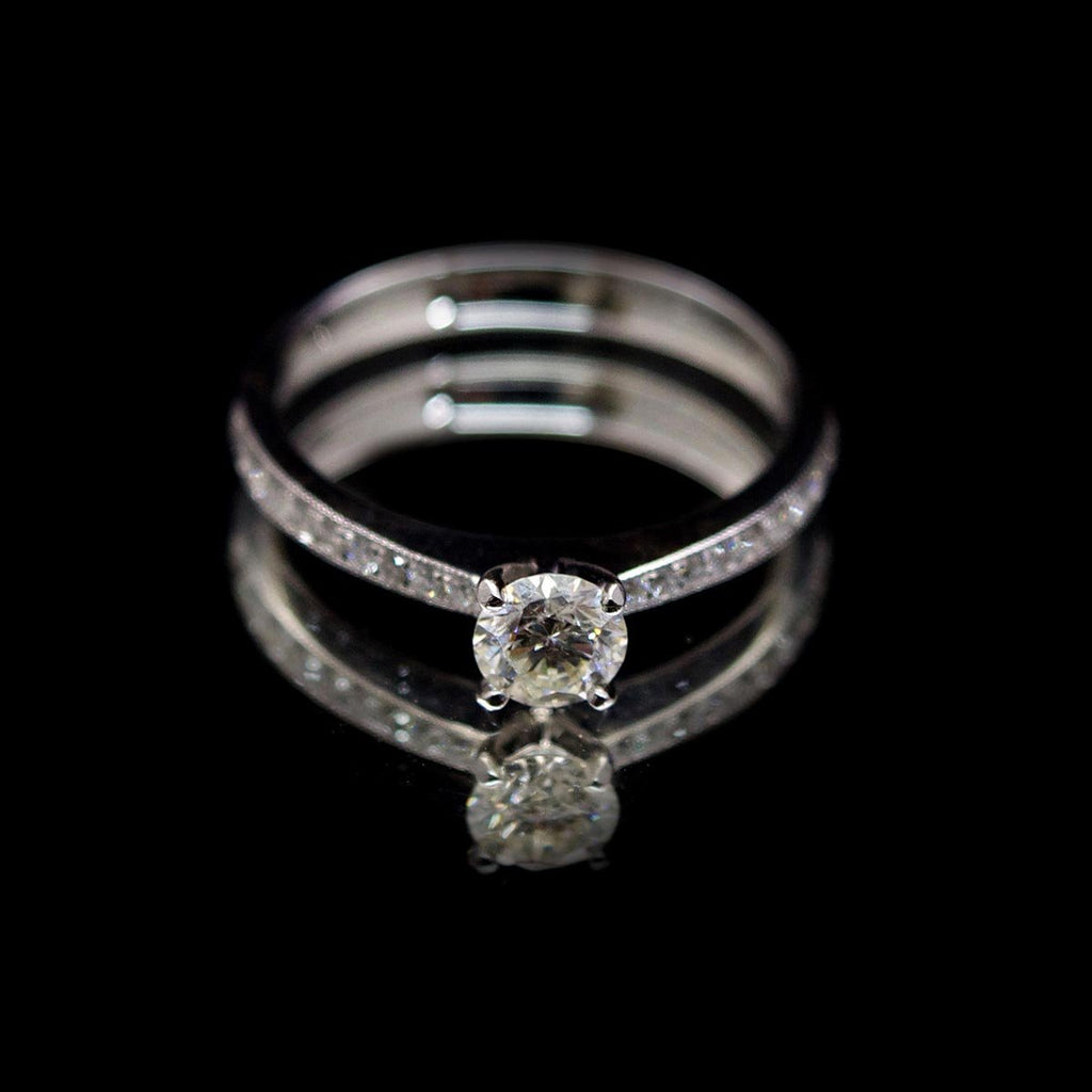 18ct Nouveau Round Diamond Engagement Ring, sold at Nouveau Jewellers in Manchester