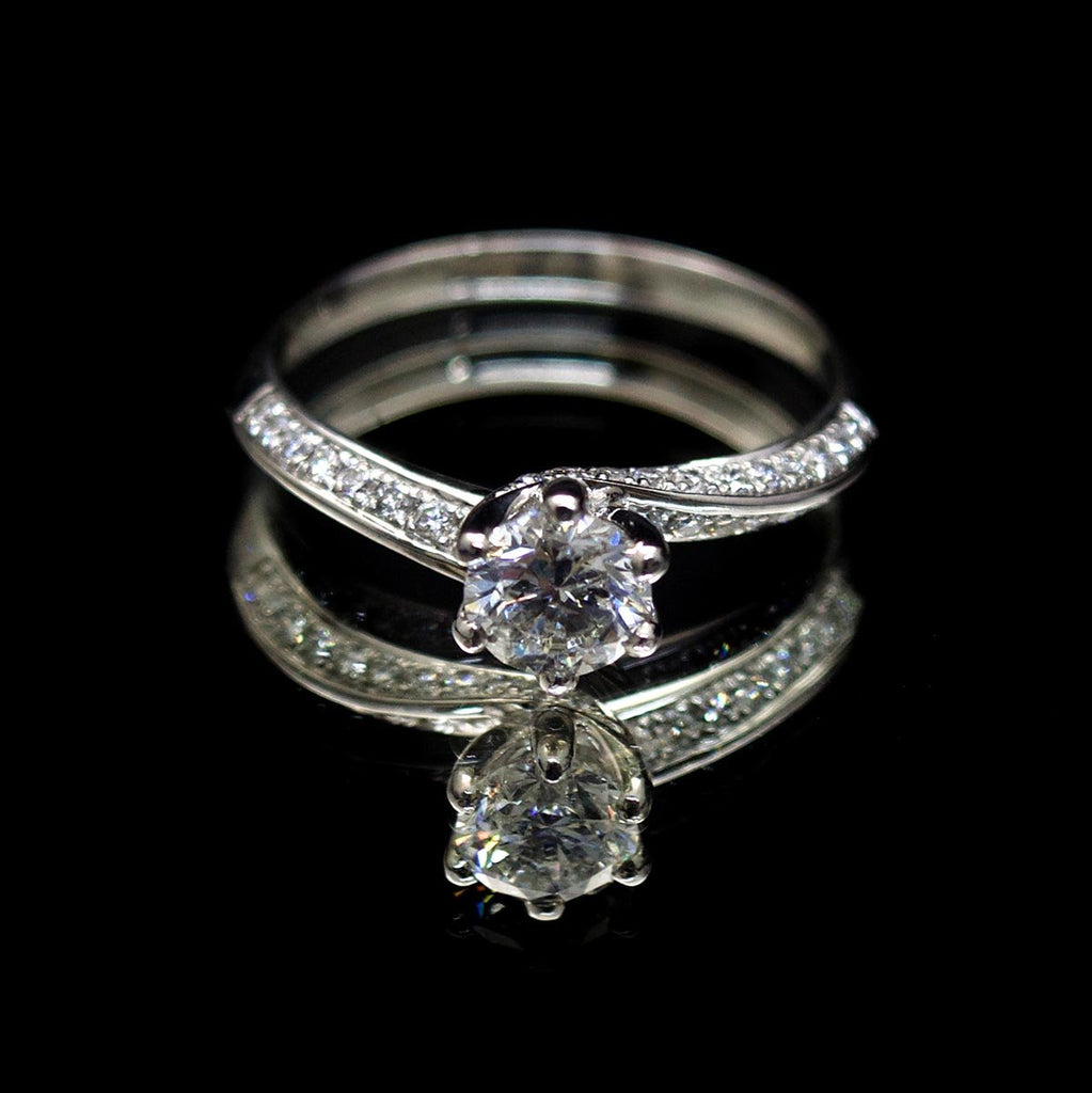 Platinum Twist Diamond Engagement Ring, sold at Nouveau Jewellers in Manchester