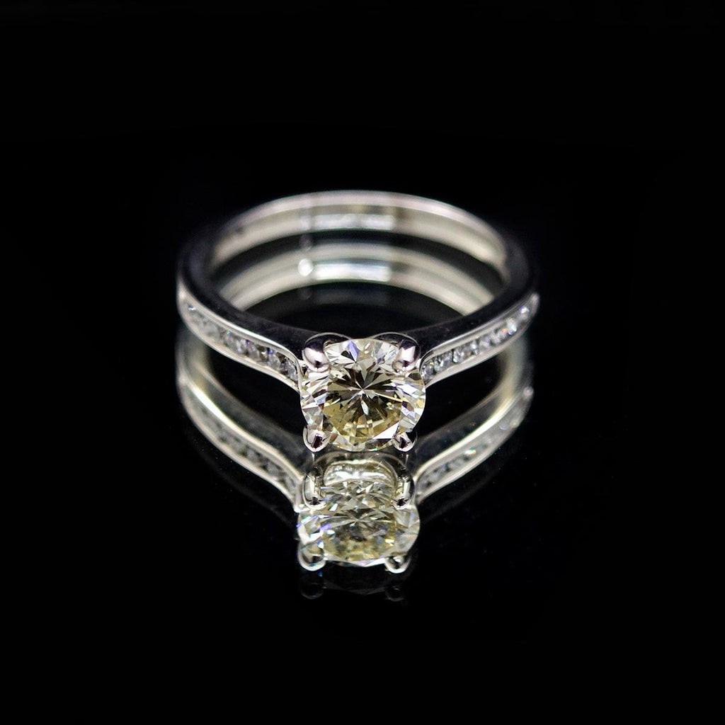 18ct White Gold Signature Brilliant Cut Diamond Engagement Ring,  sold at Nouveau Jewellers in Manchester