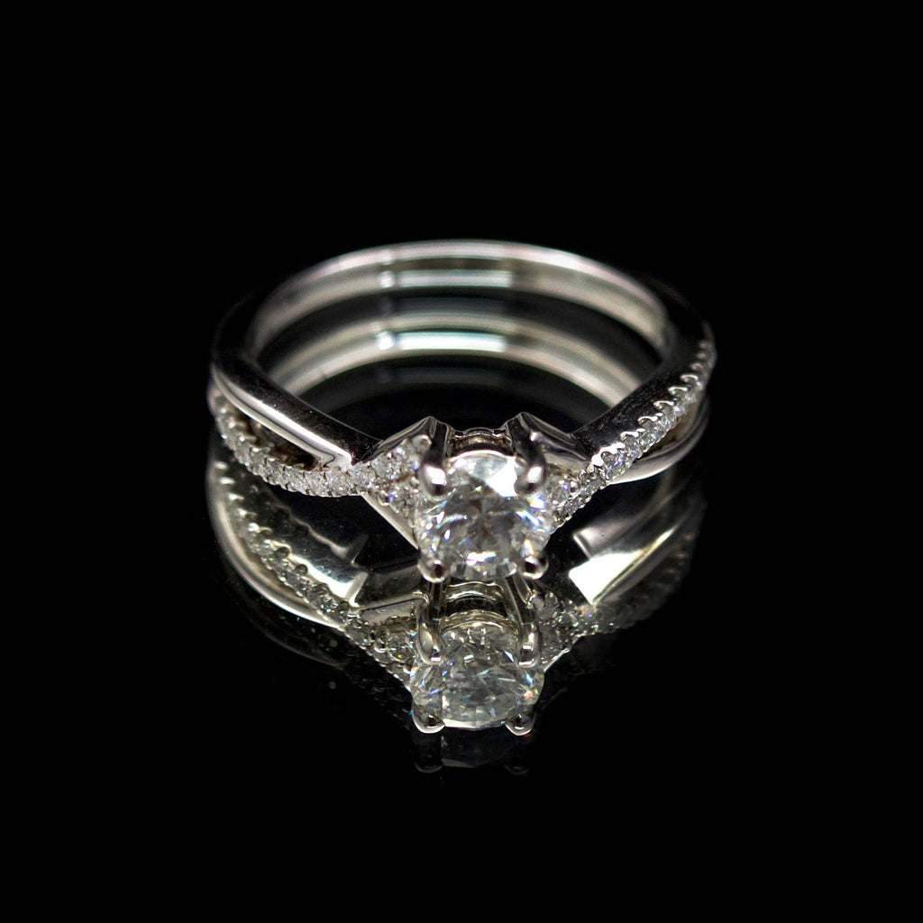 18ct Intricate Solitaire Diamond Engagement Ring, sold at Nouveau Jewellers in Manchester