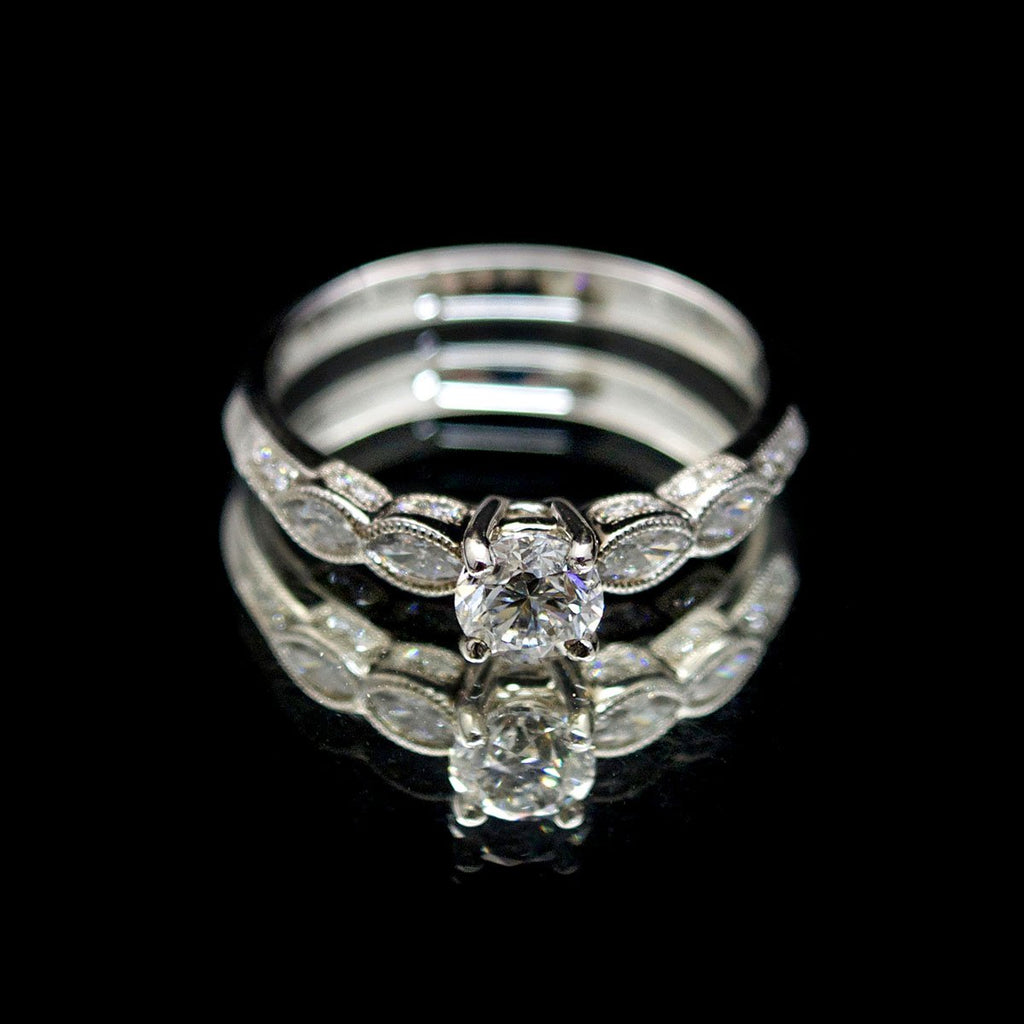 18ct Gold Marquise Diamond Engagement Ring, sold at Nouveau Jewellers in Manchester