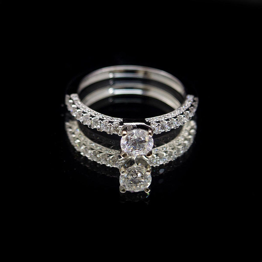 18ct White Gold Vintage Style Solitaire Diamond Engagement Ring, sold at Nouveau Jewellers in Manchester