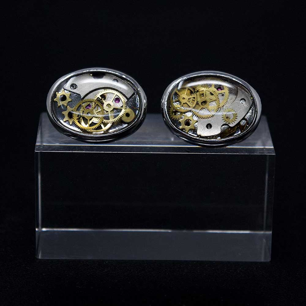 Nouveau Jewellers, Steampunk cufflinks, gifts for him, handmade steampunk jewellery, cognition collection