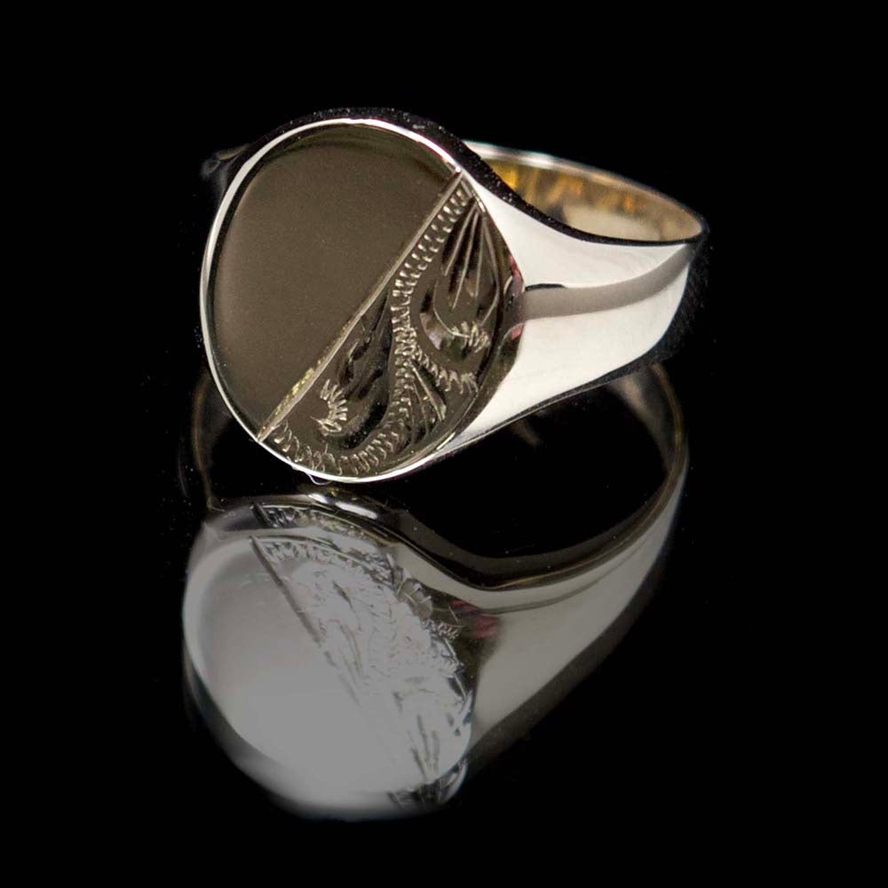 Gold signet ring, nouveau jewellers, mens gold signet ring, manchester jewellers