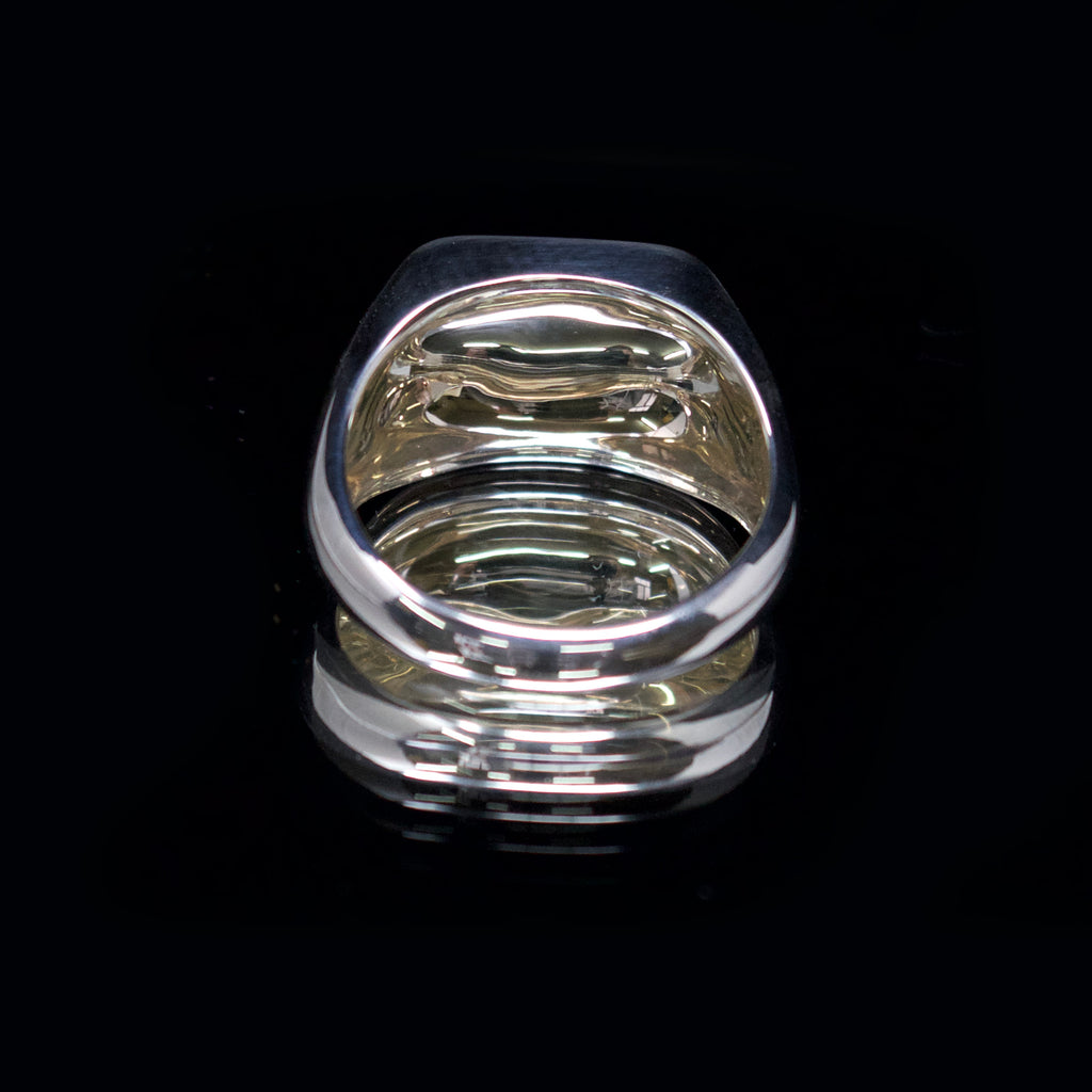 silver flat signet ring, nouveau jewellers, signer ring engraving, jewellers in manchester