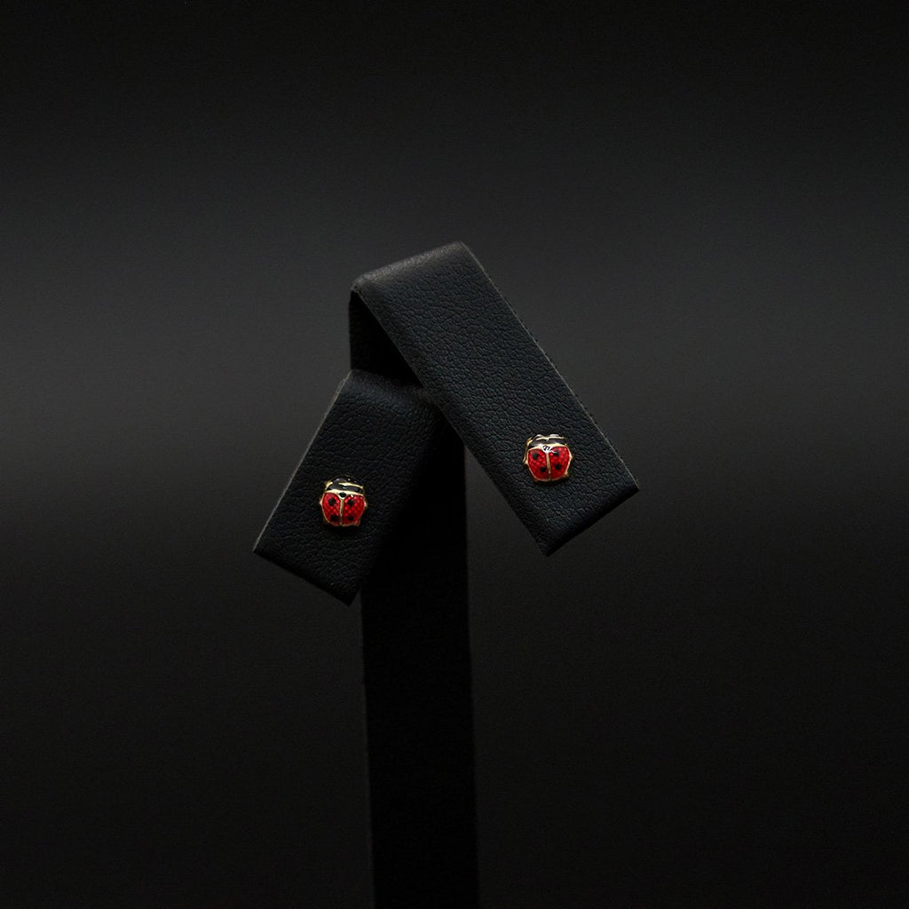 9ct Yellow Gold Ladybird Stud Earrings, sold at Nouveau Jewellers in Manchester