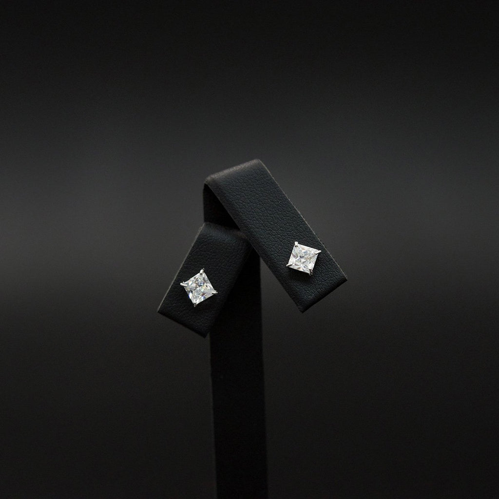 18ct White Gold Cubic Zirconia Stud Earrings, sold at Nouveau Jewellers in Manchester