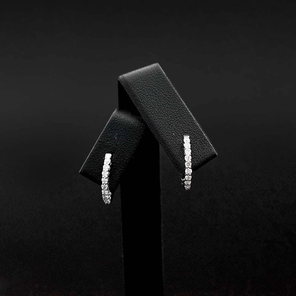 18ct White Gold Diamond Hoop Earrings, sold at Nouveau Jewellers in Manchester
