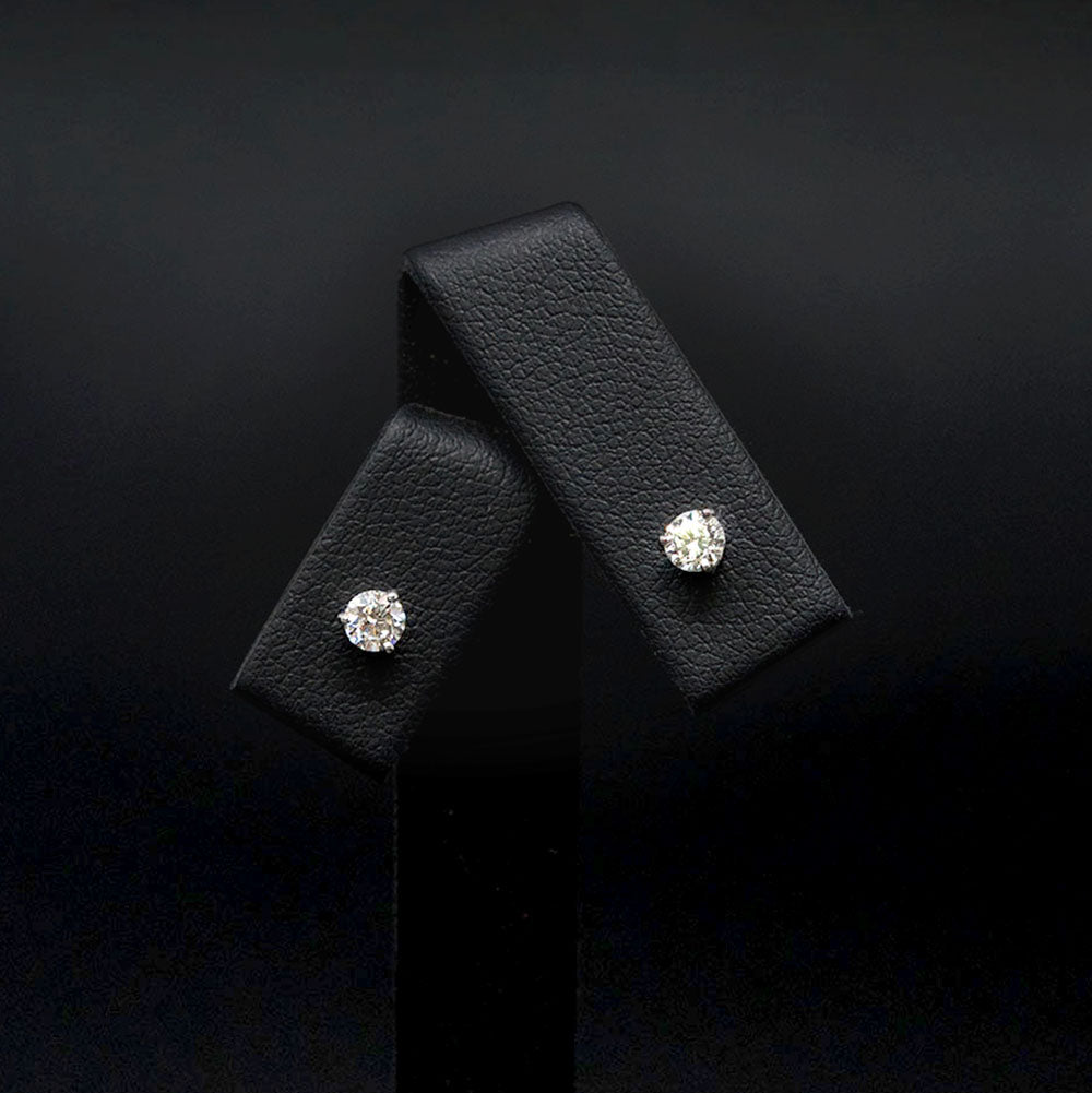 18ct White Gold Elegant Diamond Stud Earrings, sold at Nouveau Jewellers in Manchester