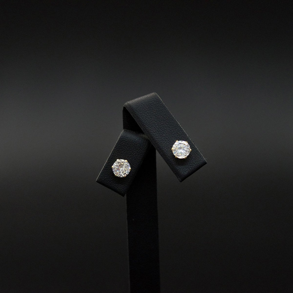 9ct Yellow Classic Cubic Zirconia Studs, sold at Nouveau Jewellers in Manchester