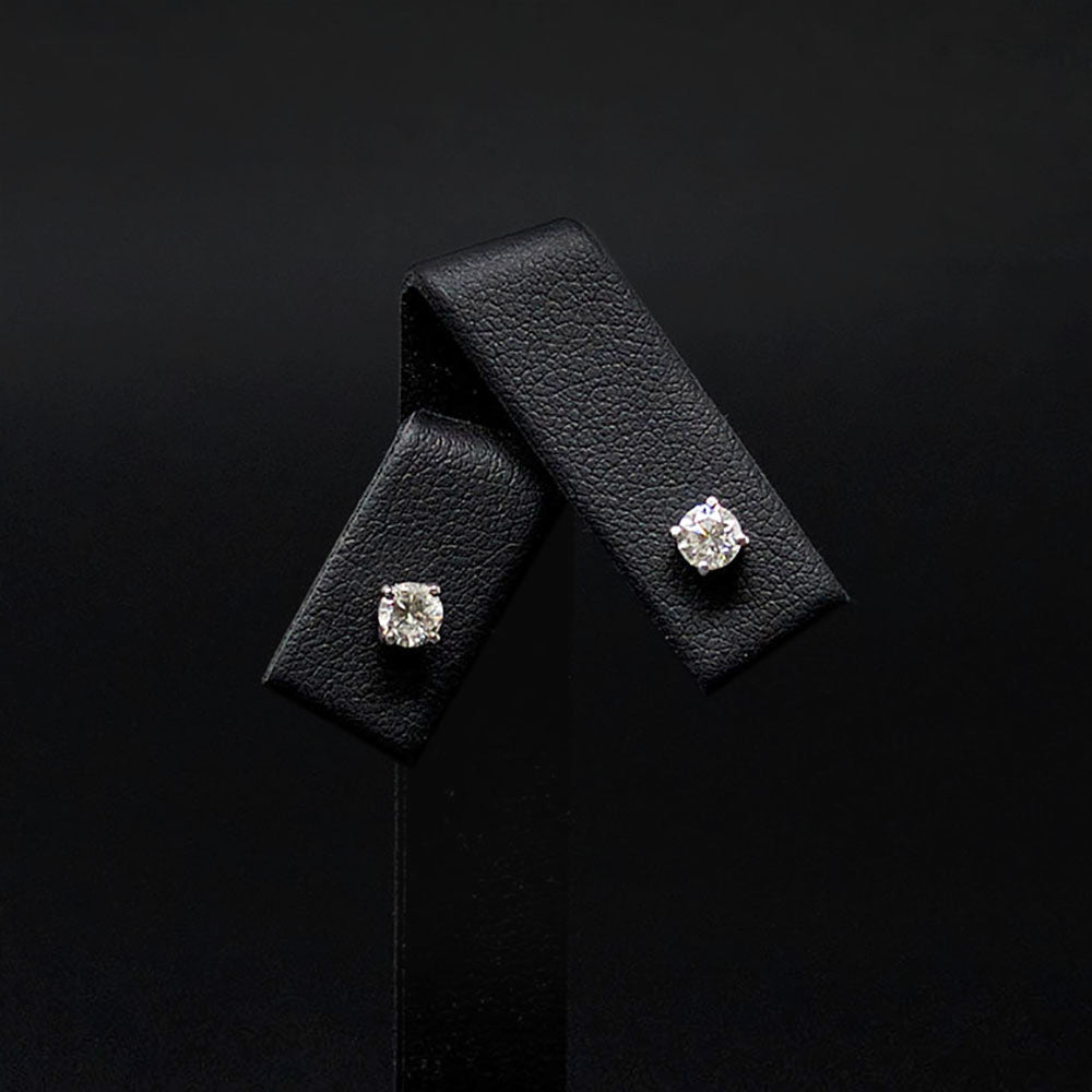 18ct White Gold Diamond Stud Earrings, sold at Nouveau Jewellers in Manchester