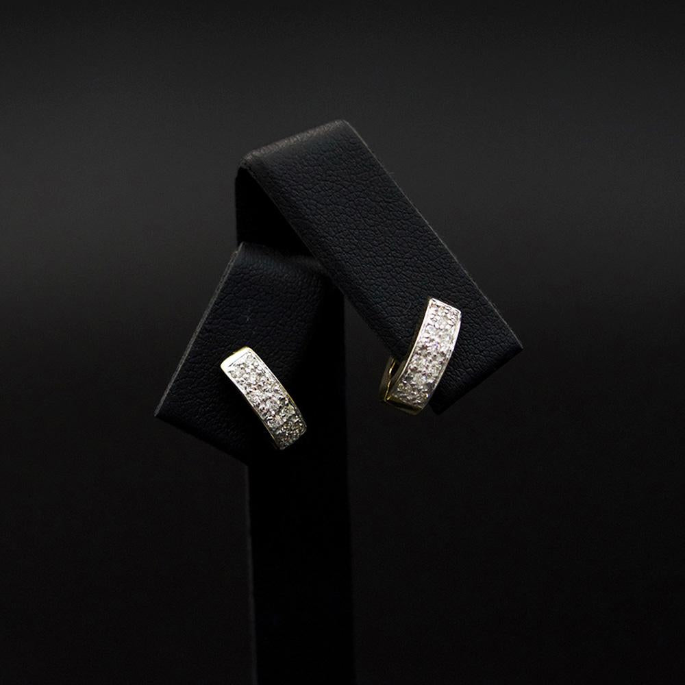 9ct Yellow Gold and 9ct White Gold Two Tone Hoop Earrings, sold at Nouveau Jewellers in Manchester