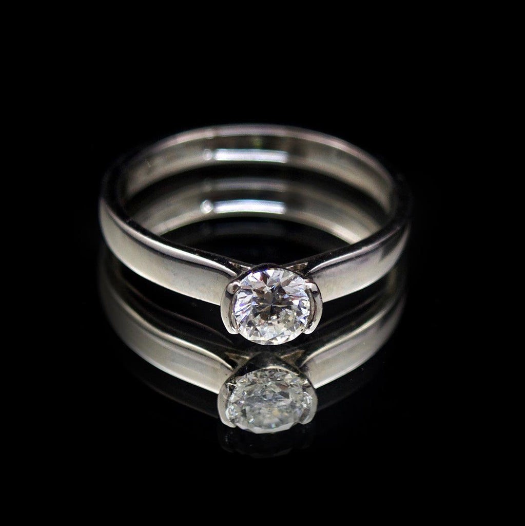 Engagement ring, brilliant cut dihttps://dj-jewellery-manchester.myshopify.com/admin/discountsamond, semi set ring, ring inspiration, unique ring, gift for her, present ideas, ring ideas, nouveau jewellers, manchester jewellers, engagement ring