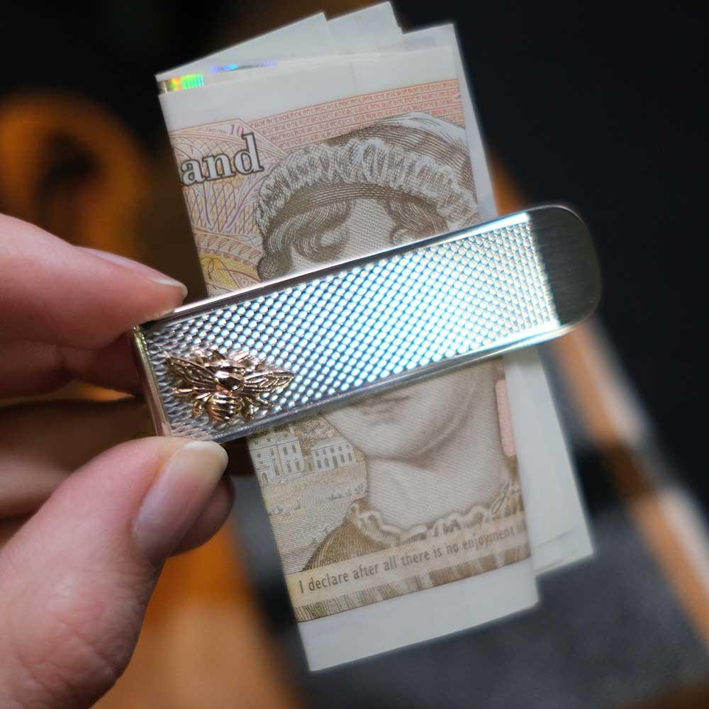 Nouveau Jewellers, Manchester bee Jewellery, Money Clip