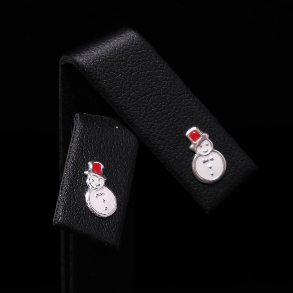 925 Silver Snowman Stud Earrings, sold at Nouveau Jewellers in Manchester